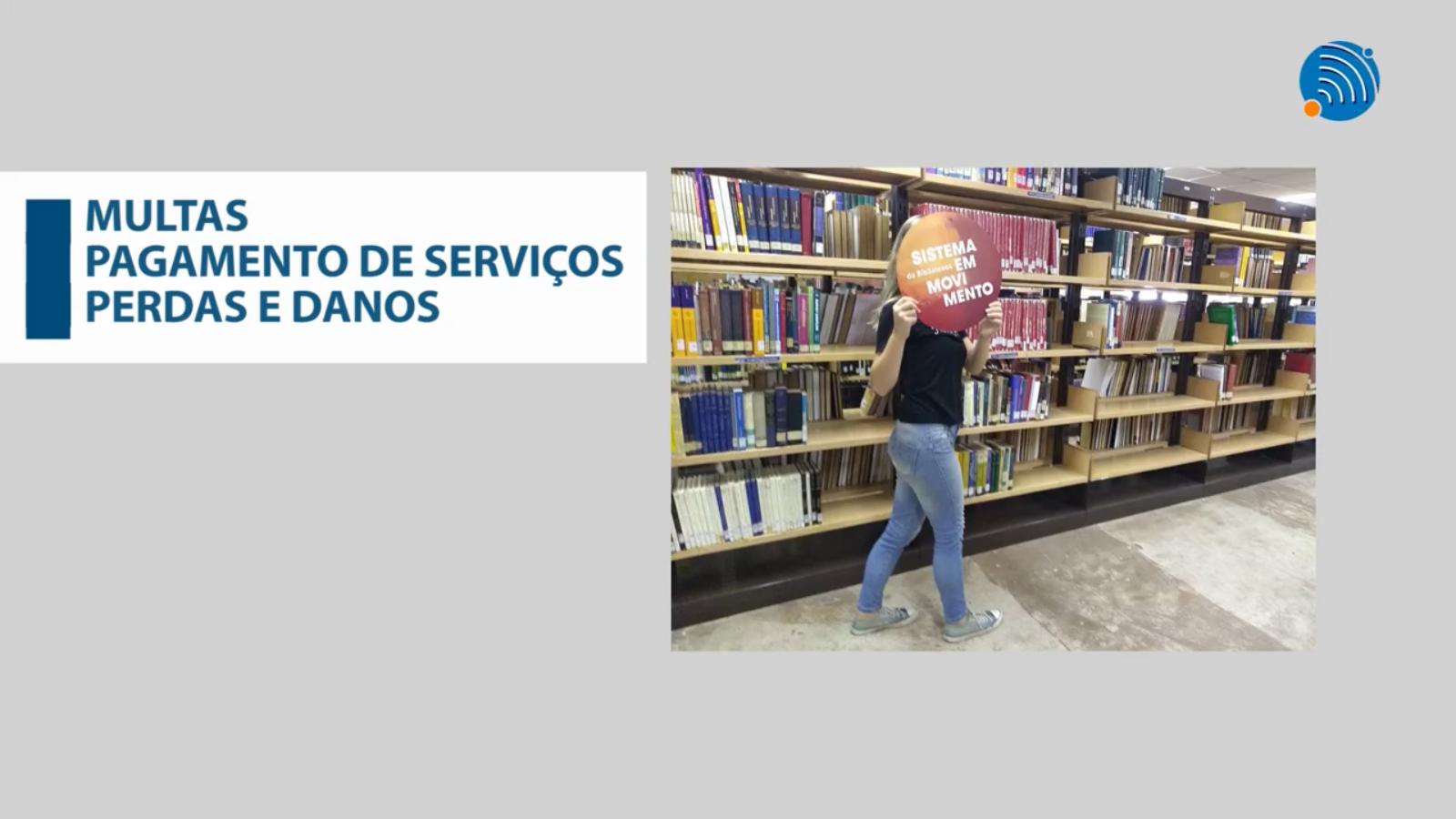 Tela do vídeo de apresentação: multas e pagamentos de serviços estão entre os tópicos do treinamento