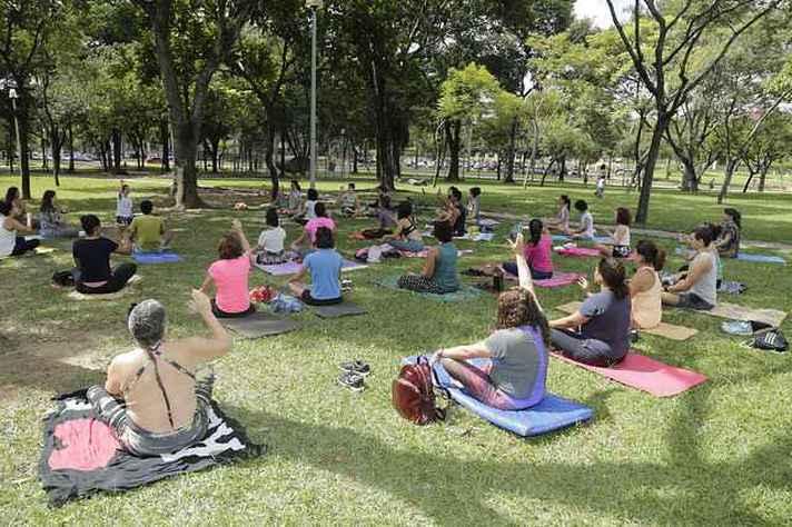 Domingo no Campus inclui atividades ao ar livre, como oficina de ioga