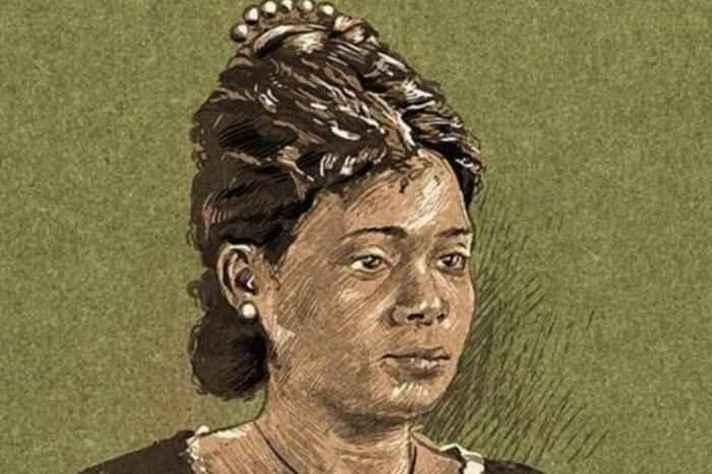 Retrato de como se imagina que fosse Maria Firmina dos Reis, autora de Úrsula, de acordo com a descrição de conhecidos da escritora