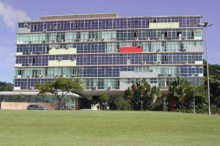 Prédio da Reitoria,no campus Pampulha marca início da 'modernização' da década de 60
