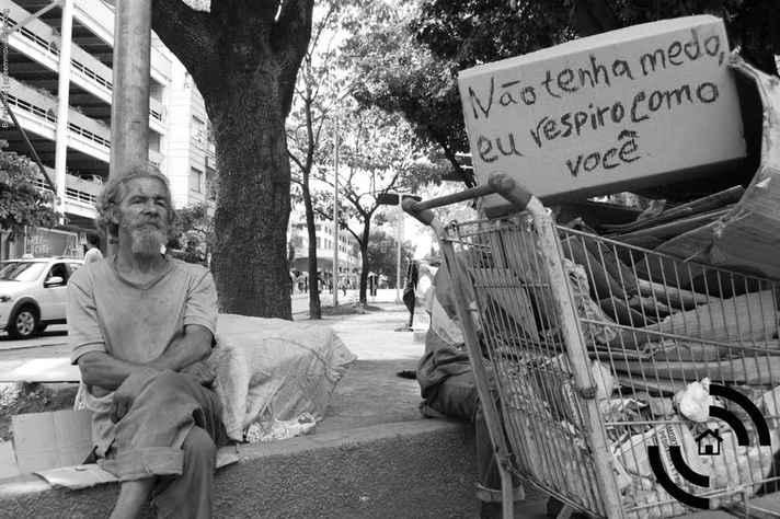 Campanha promovida pela Pastoral Nacional do Povo da Rua em defesa do direito à habitação