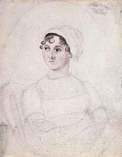 Jane Austen, retratada por sua irmã Cassandra