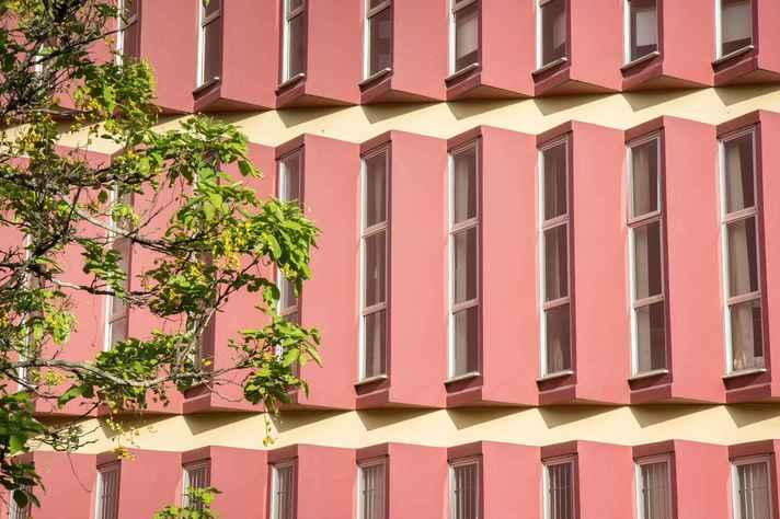 Detalhe do prédio da Escola de Música