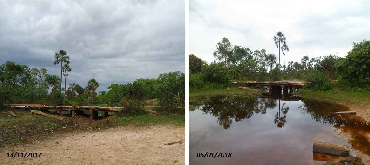 Nas imagens, a comparação entre os períodos de cheia e seca em Januária