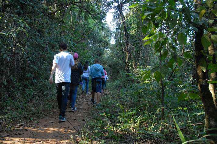 Trilhas da Estação Ecológica, no campus Pampulha da UFMG