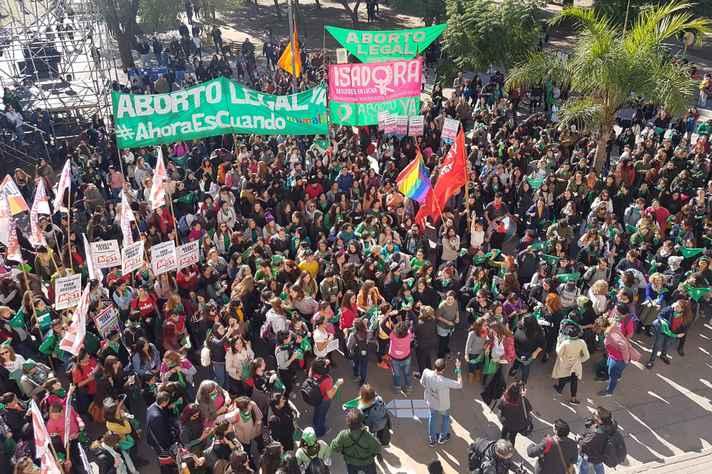 Manifestação pela legalização do aborto na Argentina