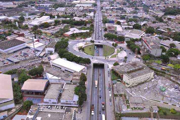 Imagem aérea de Contagem, na região metropolitana de BH