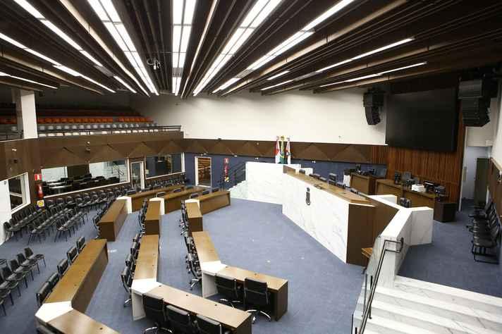Plenário da Câmara de BH
