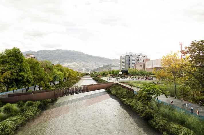 Reprodução do projeto Parque Botânico Rio Medellín