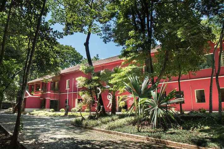 Fachada do Museu de História Natural e Jardim Botânico (MHNJB) da UFMG