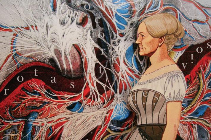 Intervenção de Wanda Tófani sobre obra do atlas