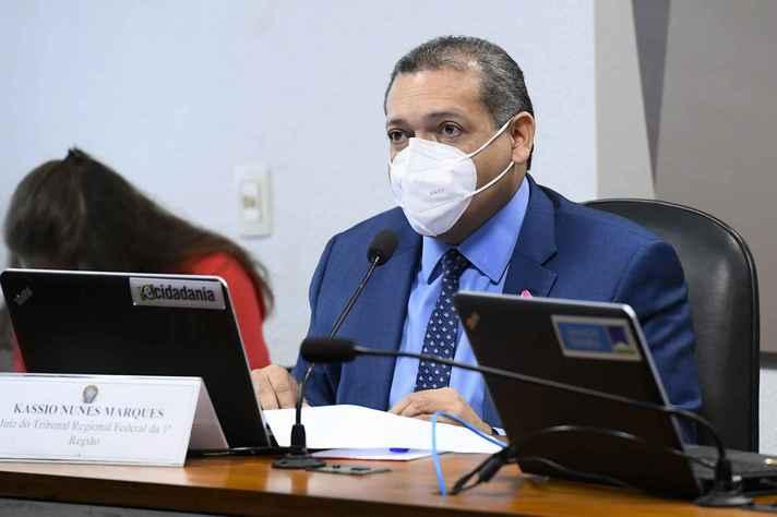 Comissão de Constituição, Justiça e Cidadania (CCJ) se reúne em sistema semipresencial para sabatina de Kássio Nunes Marques.