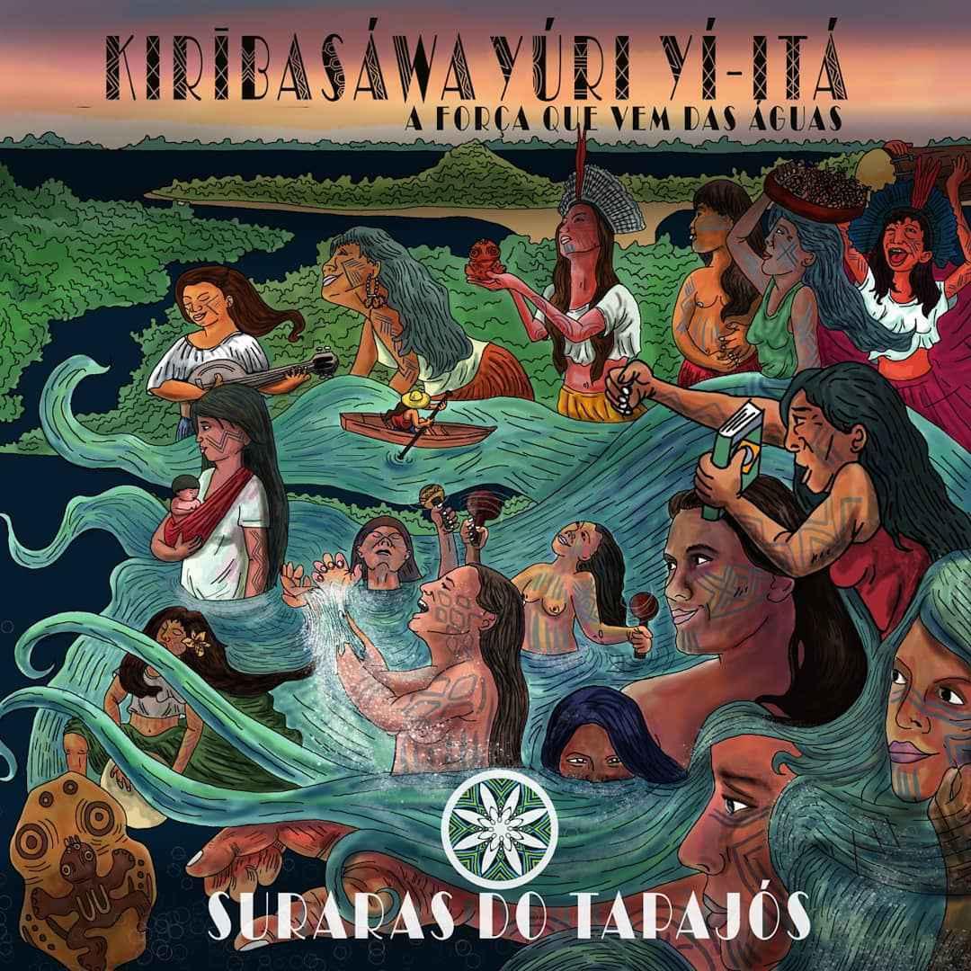 Capa do álbum, feita pelo artista Diego Godinho, retrata a diversidade cultural dos povos da floresta