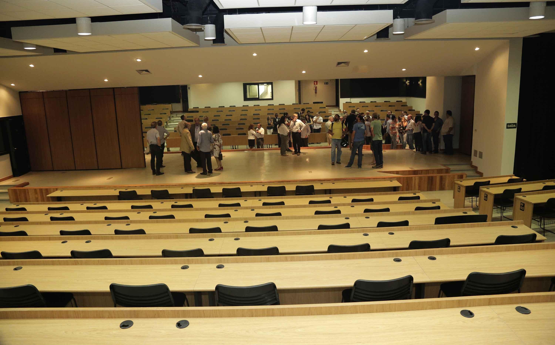 Auditórios com divisórias modulares instalados no CAD 3 podem ser transformados em anfiteatros