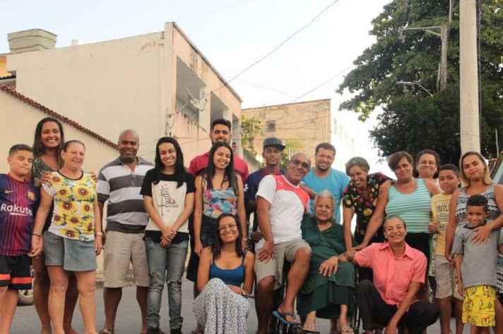 Moradores do Kilombo Souza