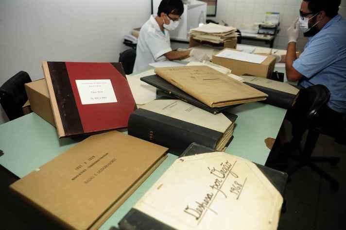 Profissionais da Diretoria de Arquivos Institucionais