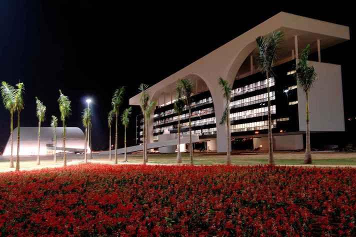 Vista do Palácio Tiradentes, construído para ser a sede do governo de Minas
