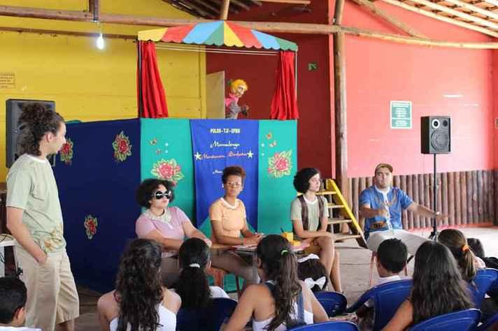Atividade cultural promovida pelo Programa Polos de Cidadania no município de Dom Joaquim