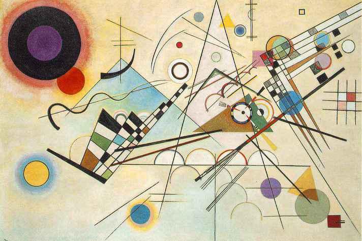 Composição 8, obra de Wassily Kandinsky