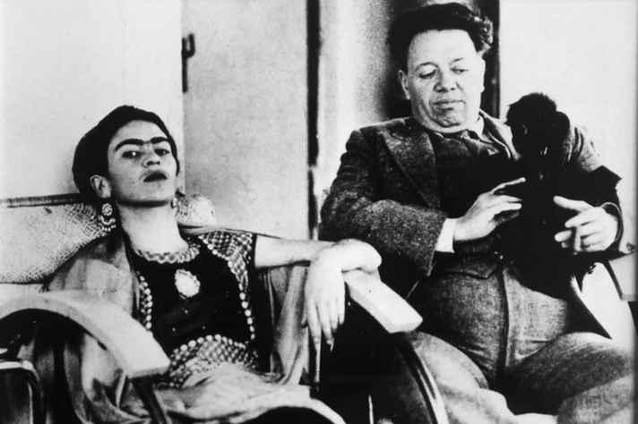 Fragmento de uma das fotos da exposição 'Diego e Frida: um sorriso no meio da estrada'