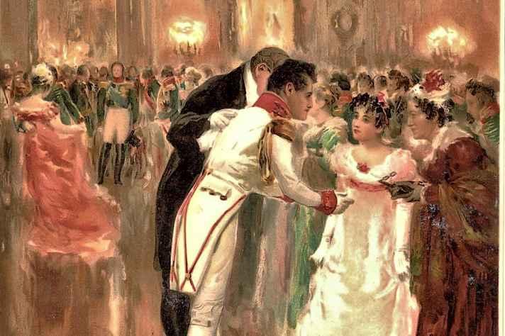Primeiro baile de Natasha Rostova, quadro de Leonid Pasternak inspirado em Guerra e Paz, de Leon Tolstoi