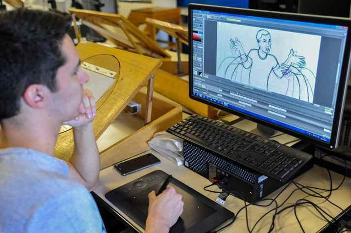 Cinema de Animação e Artes Digitais é um dos cursos que exigem prova de habilidades