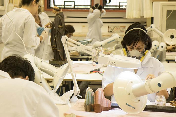 Laboratório do Cecor, na Escola de Belas Artes: