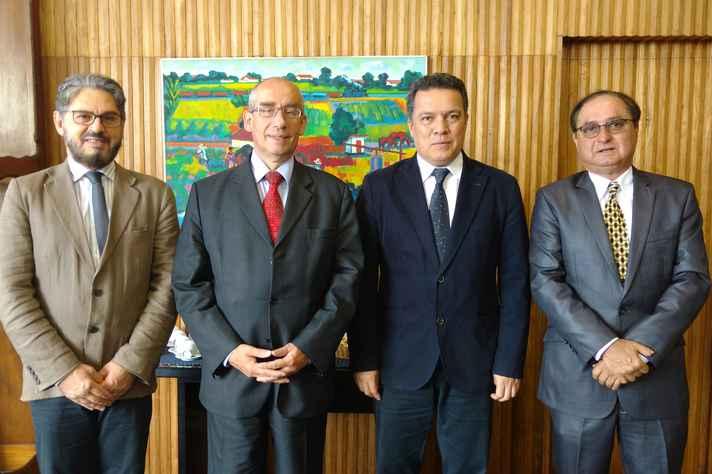 Fábio Alves, Jiří Havlík, Jaime Ramírez e Luiz Augusto Guadalupe