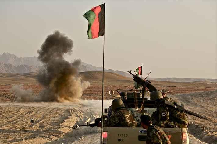 Soldados afegãos em combate