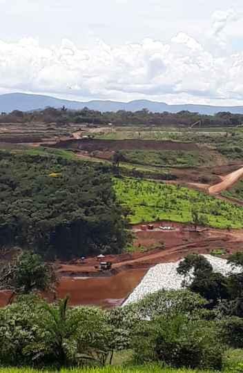 Área do Parque da Cachoeira, em Brumadinho, onde os Bombeiros continuam o trabalho de buscas por corpos de 11 vítimas