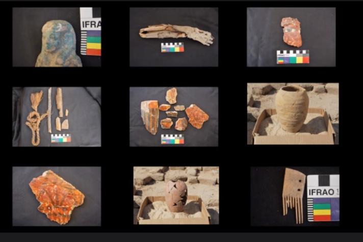 Alguns dos artefatos encontrados no interior da T123
