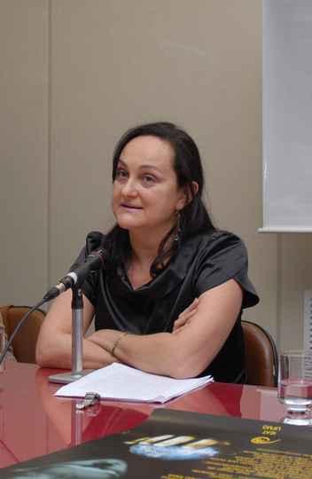 Professora Regina Horta, em evento do Ieat