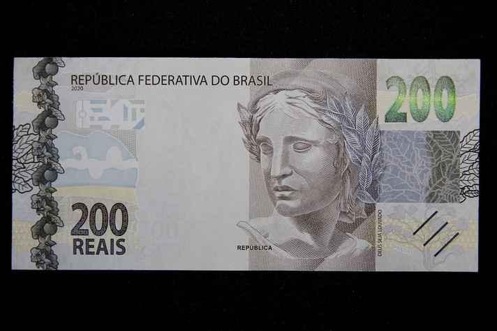 Frente da nota de R$ 200