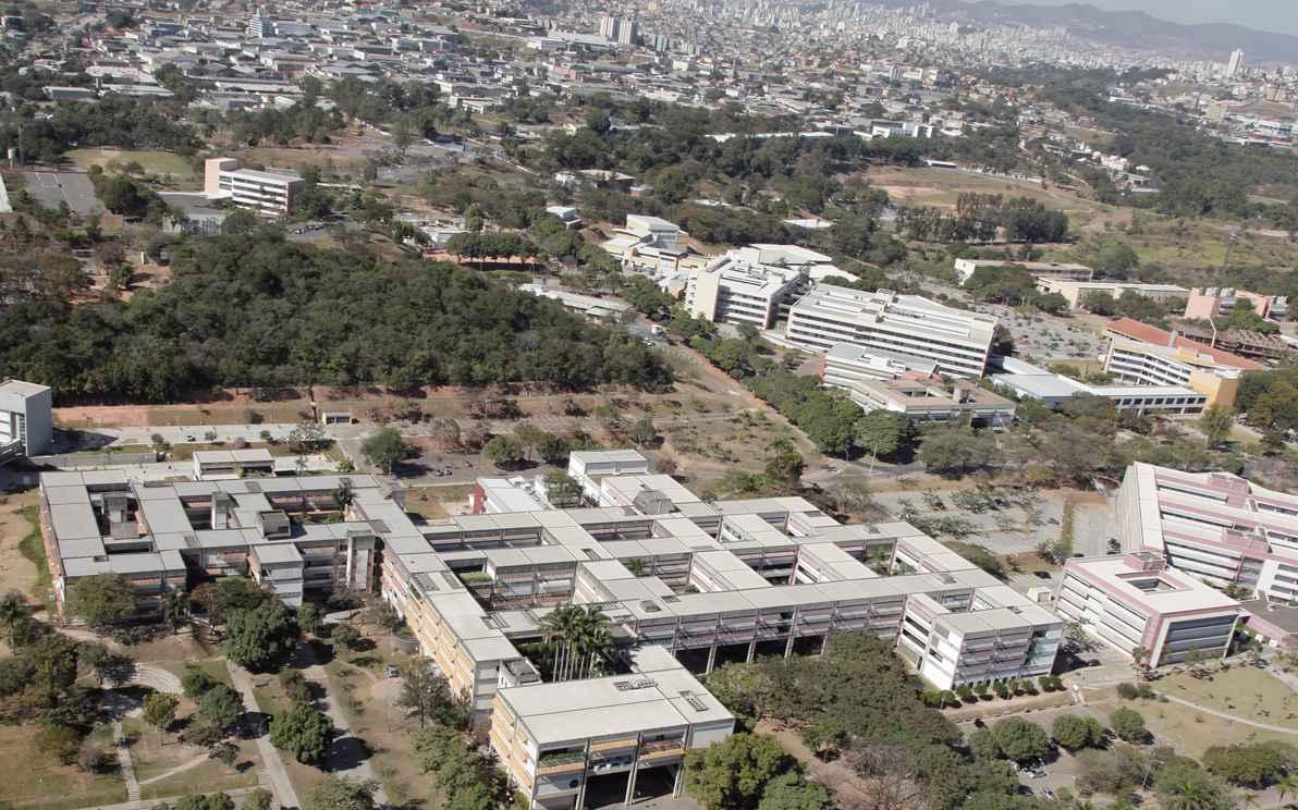 Vista do campus Pampulha: etapas de construção resgatadas no estudo