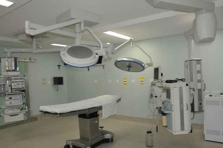 Sala cirúrgica no Hospital das Clínicas da UFMG