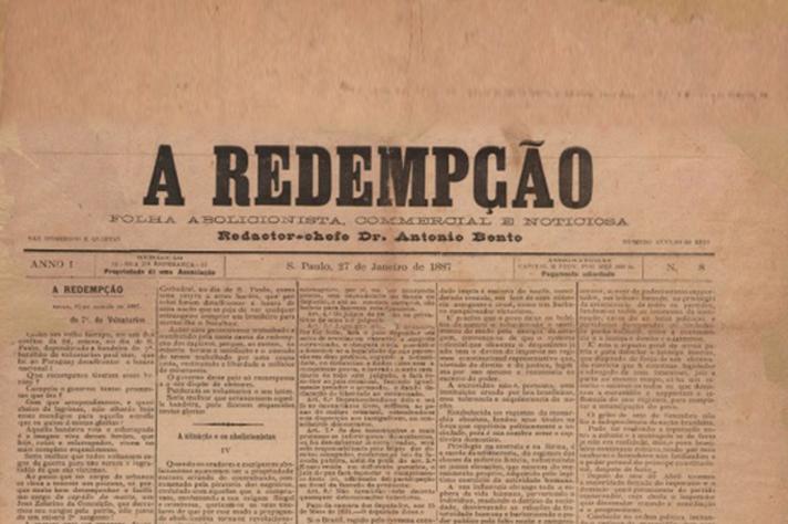 Edição de A Redempção, jornal de perfil abolicionista