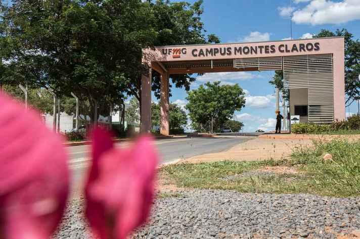 Entrada no Instituto de Ciências Agrárias, em Montes Claros