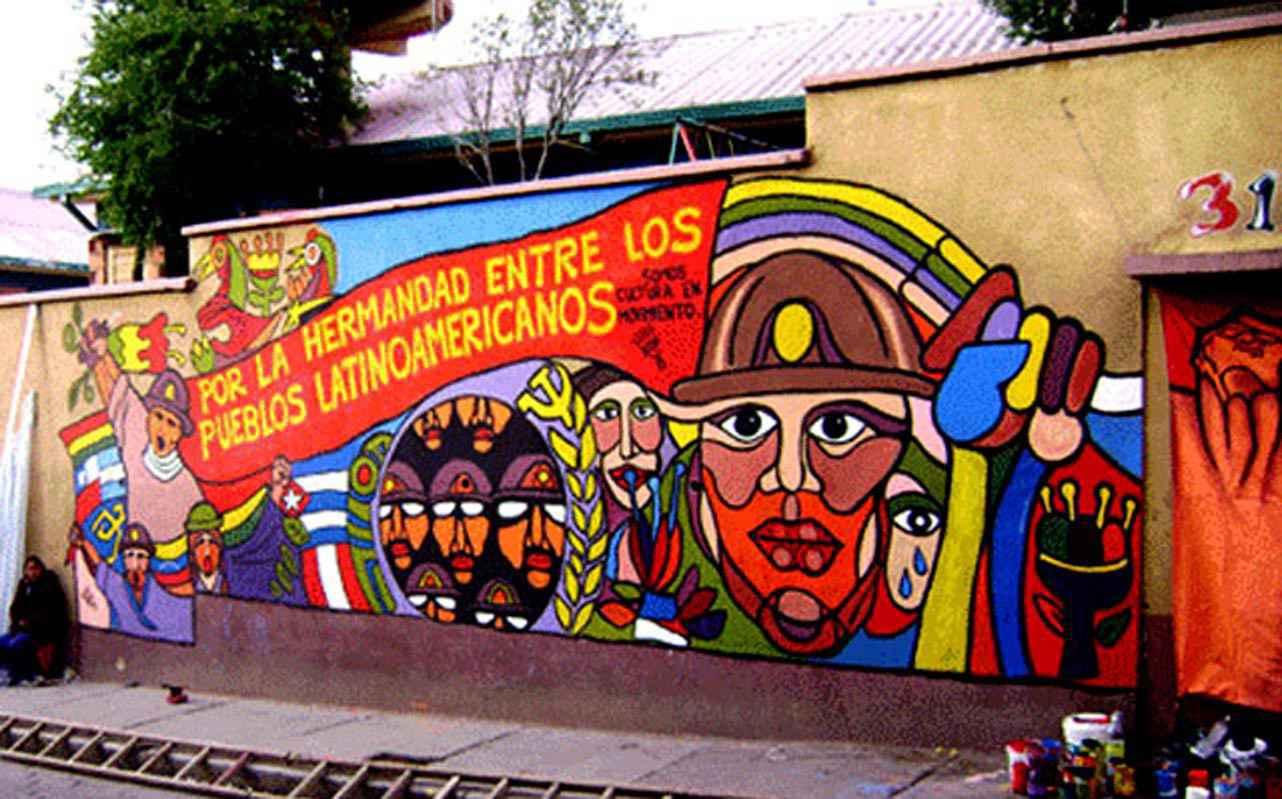 Mural na Bolívia: segunda edição da Escola de Inverno tem foco na América Latina