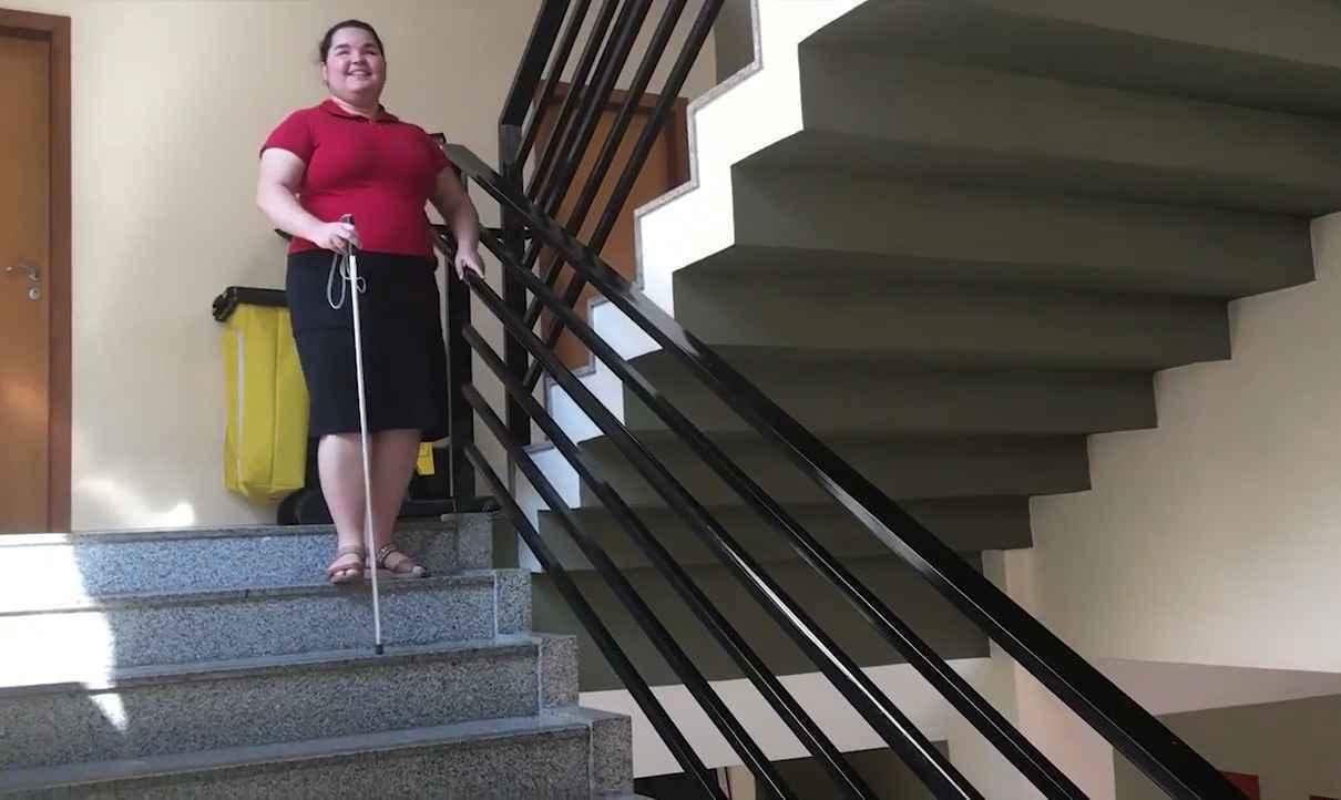 Trecho do vídeo 'Trilhando os caminhos para a acessibilidade', de Isadora Oliveira Gondim, aluna do curso de Gestão de Serviços de Saúde