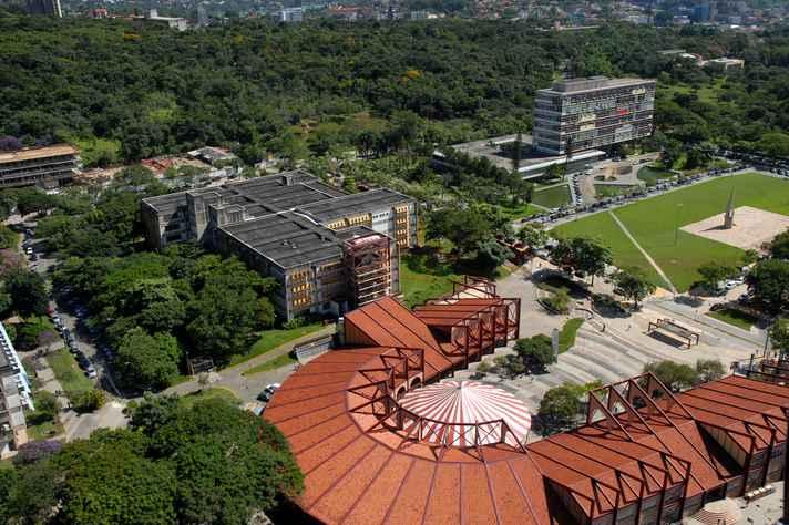 Vista aérea do campus Pampulha, sede da nona edição do