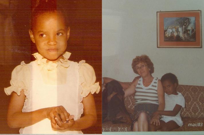 Professora Viviane de Souza Alves com a mãe