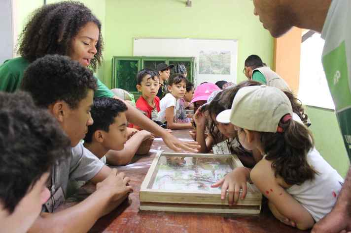 Atividade extensionista de educação ambiental na Estação Ecológica da UFMG