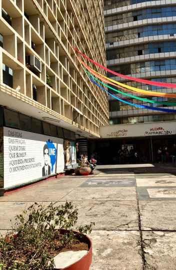 Área do prédio da Faculdade de Direito