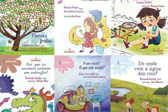 Imagens das capas dos seis primeiros livros da coleção