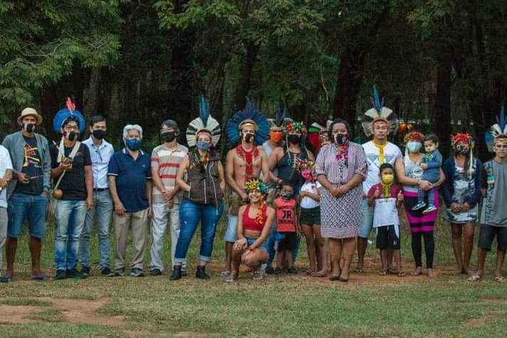 No dia 9 de junho, foi realizada uma cerimônia de entrega da posse da Mata do Japonês aos indígenas