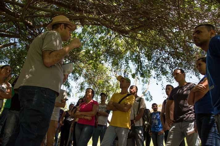 Calouros visitaram algumas áreas do campus Montes Claros