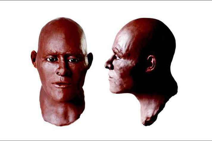 Nova face reconstituída de Luzia