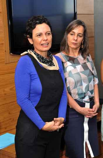 Claudia Mayorga, pró-reitora de Extensão, e Ana Flávia Machado, diretora de Cooperação Institucional da UFMG: empenho institucional por parcerias que articulam ensino, pesquisa, extensão e cultura