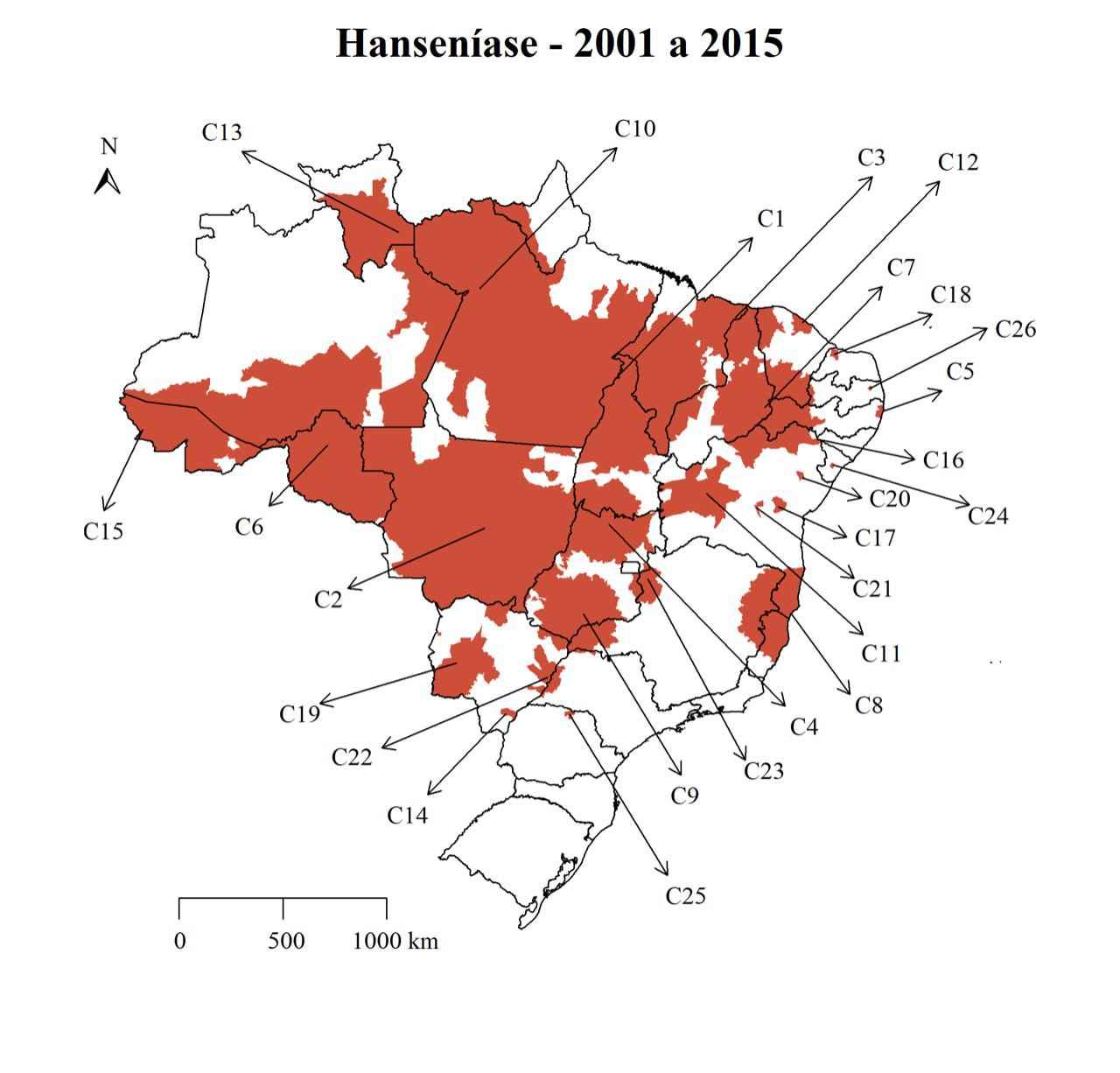 Rayssa Rodrigues identificou áreas de concentração da hanseníase no Brasil