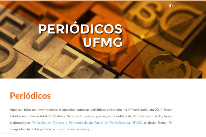 A Revista Mosaico pode ser acessada através do Portal de Periódicos da UFMG